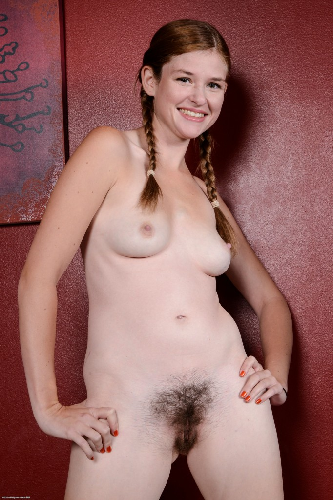 Coed hairy natural nude